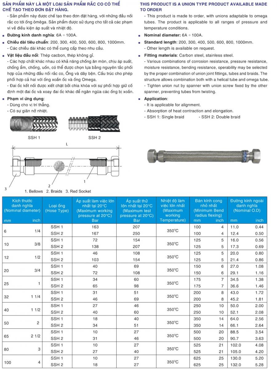Khớp nối mềm UN-S304